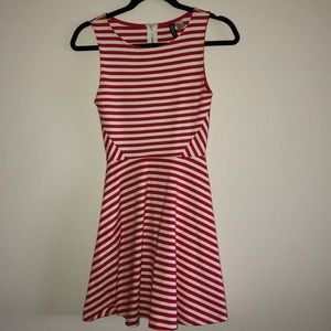 Dresses & Skirts - Red and white striped strapless dress